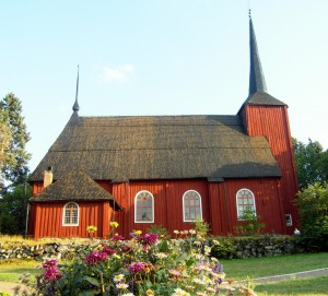 Even churches are made out of wood in Finland. This one has stood the test of time since the 17th century.