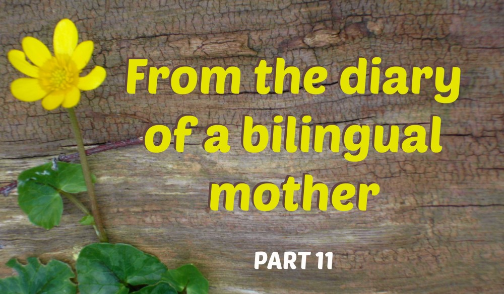 From the diary of a bilingual mother, part 11