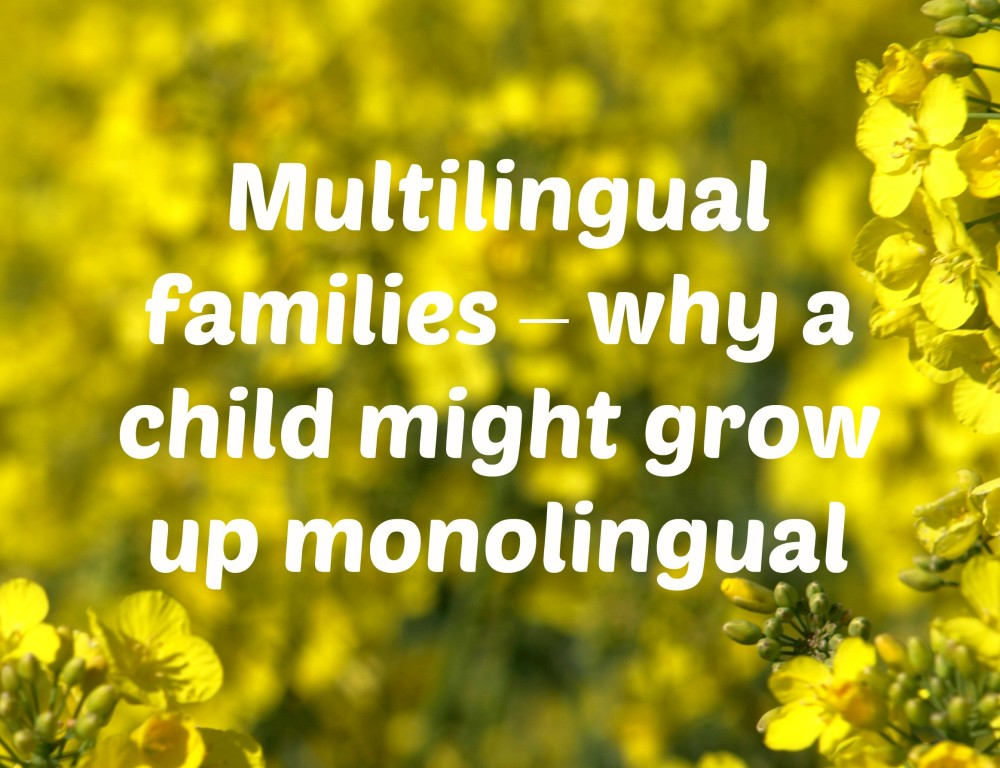 Multilingual families – why a child might grow up monolingual