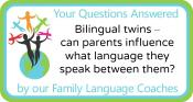Q&A: Bilingual twins – can parents influence what language they speak between them?