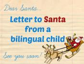 Letter to Santa from a bilingual child