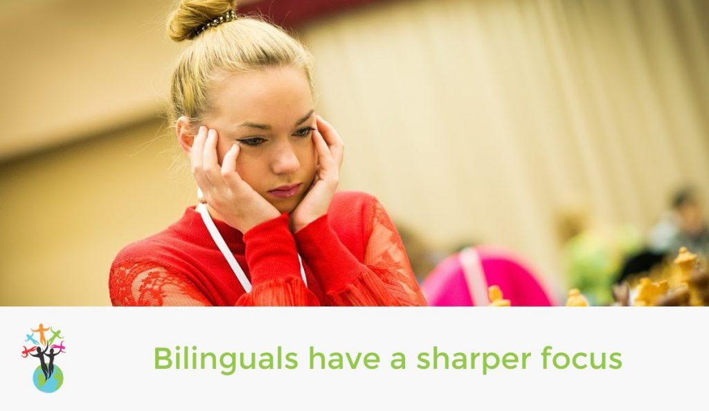 Bilinguals have a sharper focus