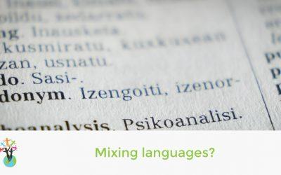 Mixing languages?