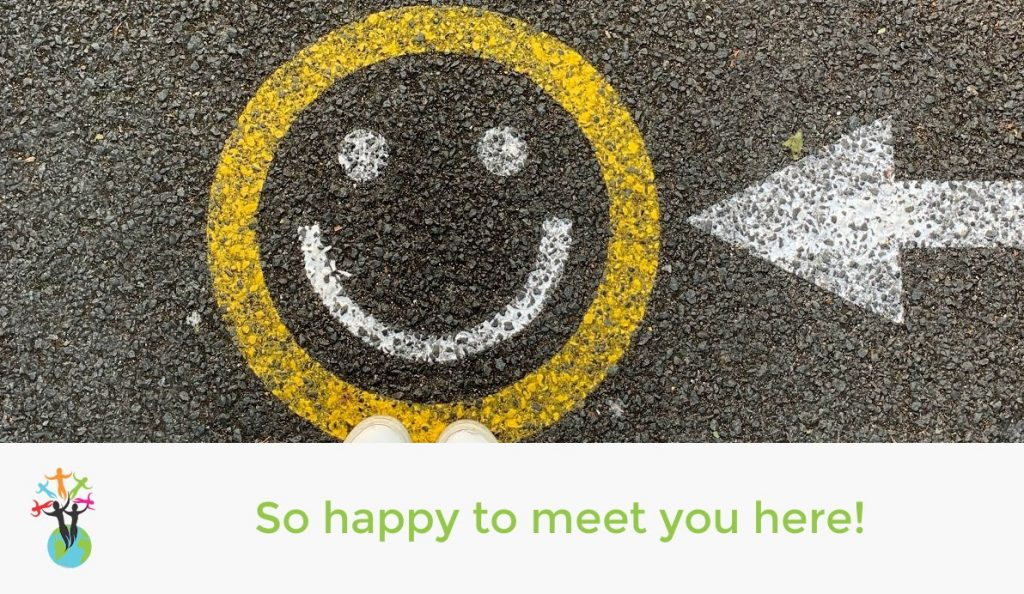 So happy to meet you here!