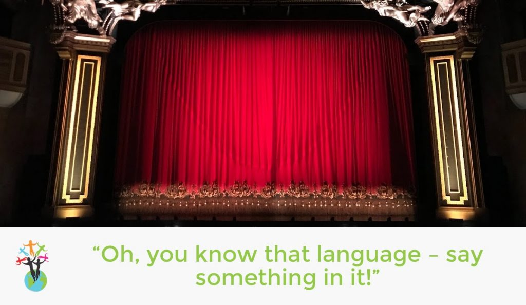 Oh you know tat language. Say something in it!