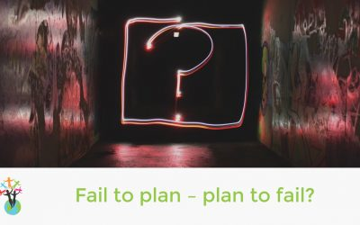 Fail to plan – plan to fail?