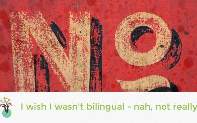 I wish I wasn't bilingual! – nah, not really