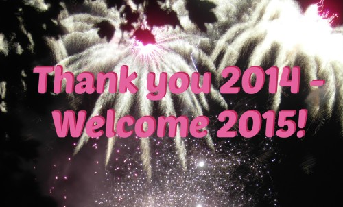 Thank you 2014, welcome 2015!