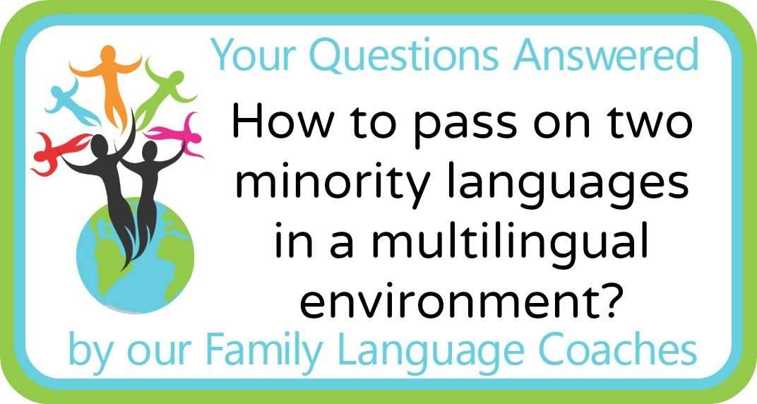 How to pass on two minority languages in a multilingual environment?
