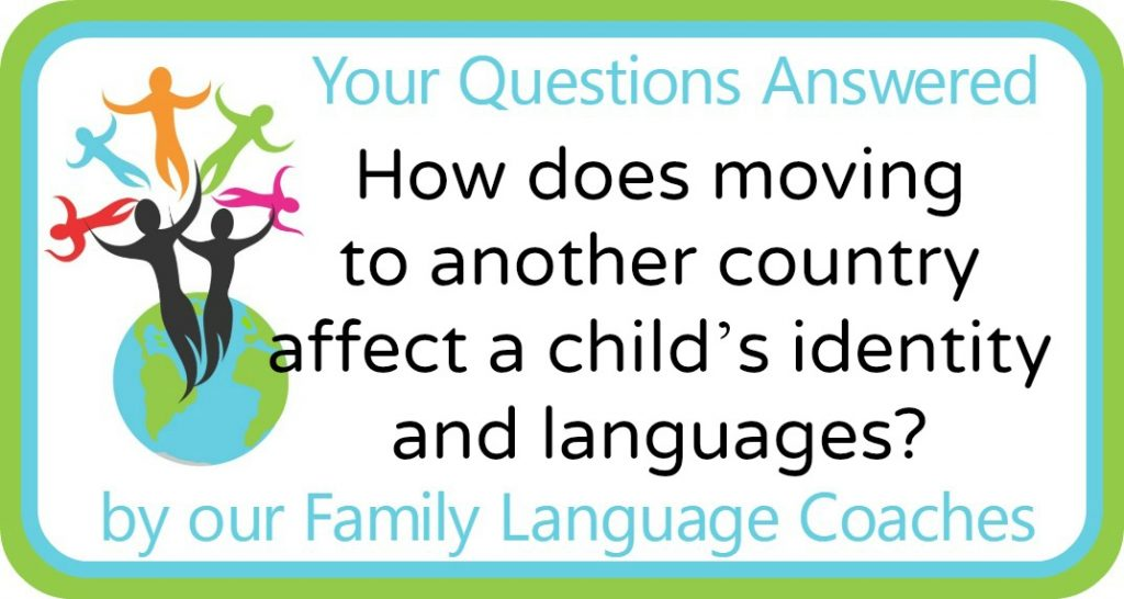 How does moving to another country affect a child's identity and languages?