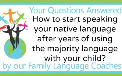 Q&A: How to start speaking your native language after years of using the majority language with your child?