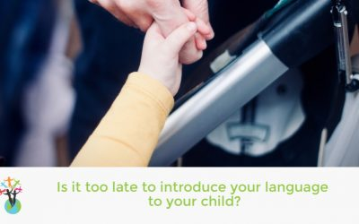 Is it too late to introduce your language to your child?