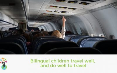Bilingual children travel well, and do well to travel