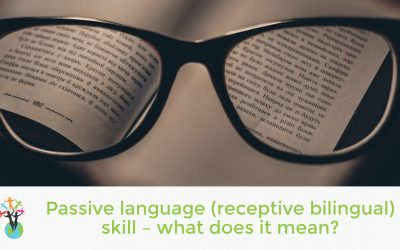 Passive language (receptive bilingual) skill – what does it mean?